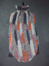 Crossroads: Size: 12. Slimming Chiffon Overlay Print, with Navy Body-Lined Dress