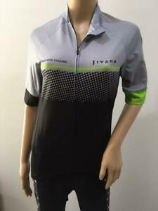 JIVANA Ladies Womans Cycling Bike Jersey Top short sleeve Grey/Black/Green S-4XL
