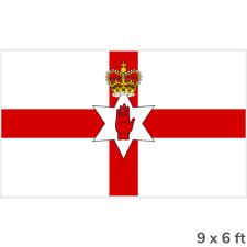 More details for extra large northern ireland ulster flag - 9ft x 6ft - £19.99