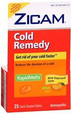Zicam Cold Remedy RapidMelts with Vitamin C Citrus 25 Each (Pack of 9)