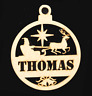 Personalised Christmas Tree Baubles Xmas Ornament Decoration Wooden MDF