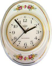 149250a10F Keramik Küchenuhr Chippendale Rosen mit Fehler Sonderangebot Funkuhr