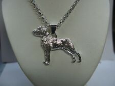 Pendant With Chain ​​Dog Breed Rottweiler In Silver 925