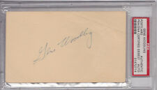 GENE WOODLING  Signed Postcard  PSA/DNA Slabbed