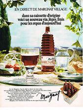 PUBLICITE  1971   MARGNAT  caissette d'origine vin léger de table