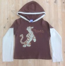 Disney Brown 'Tigger' Hooded, Long Sleeved Top, Size 140 Cms – 146 Cms