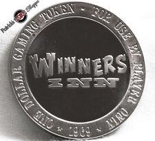$1 FULL PROOF SLOT TOKEN WINNERS INN CASINO 1969 FRANKLIN MINT WINNEMUCCA NEVADA