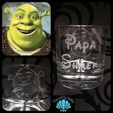 Personalised Disney Shrek Whiskey Tumbler Glass Gift & Free Name Engraving! Dad