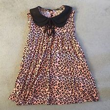 Primark Atmosphere Collar Vest Top Leopard Animal Print 10 Emo