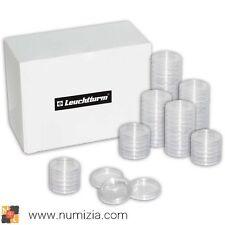 LEUCHTTURM Caja de 100 Cápsulas para monedas diámetro interior 26 mm (2 EURO)