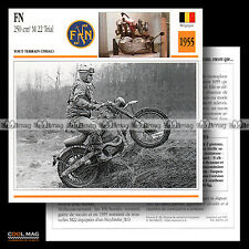 #094.13 FN FABRIQUE NATIONALE 250 M22 TRIAL 1955 Fiche Moto Motorcycle Card