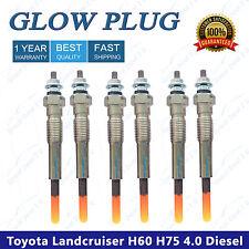 6 Glow Plugs Toyota Landcruiser HJ60 HJ75 4.0 Diesel LWB w/2H 6cyl 1982-1988