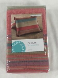 NIP Martha Stewart Collection StandardPillow SHAM Quilted Western Horizon 100% C