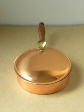 Tagus Portugal #R83 R-83 Copper Crumb Tray/Ashtray/ Silent Butler w Wood Handle