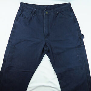 Mens Bulwark Excel FR Fire Resistant Protective Work Pant Size 36x31 Blue Weld
