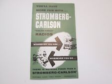 Stromberg Carlson Radios & Phonographs Brochure Foldout Mid 1950's