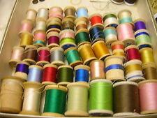 55 Vtg Thread Spools 40 Wood Spools Coats & Clark Bel-Waxed Belding Corticelli