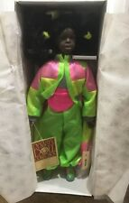 """Porcelain Doll  ( Rickia ) Dynasty City Kids Collection 16"""" African American New"""