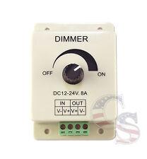 DC 12V/24V 8A LED Switch Dimmer PMW Cotroller for 3528 5050 SMD LED Strip Lights