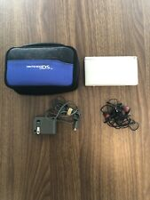 Nintendo DS Lite Handheld Console (White) With Charger, Stylus, Carrying Case+++