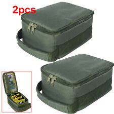 2X 4-layer Fishing Reel Case Bag Fly Bait Storage Box Gear Lure Cover Portable