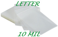 10 Letter Size Laminating Pouches Sheets Sleeve 10 Mil 9 x 11-1/2 Quality