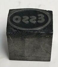 Vintage Antiques Advertising Esso Printing Press Block Letterpress Ink Stamp