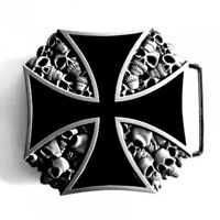 Buckle Eisernes Kreuz, Totenkopf, Skull, Biker, Gürtelschnalle