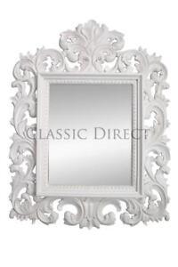 Mirror Rococo Mahogany Hand Carved 123x90cm Antique White SRP$1200
