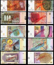 SPECIMEN  MACEDONIA SET - Denari 1996 UNC 5 pcs !