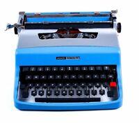 SALE!!! AVATAR BLUE OLIVETTI LETTERA 32 - Vintage Portable Working Typewriter