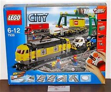 NEW SEALED LEGO 7939 CITY YELLOW CARGO TRAIN CRANE LIFT TRUCK POWER FUNCTION