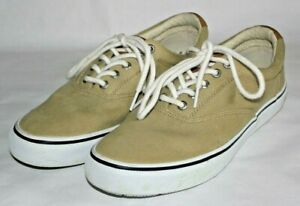 Sperry Top Sider Chino Striper CVO Salt Washed Twill Sneakers, Shoes, Mens 8.5 M