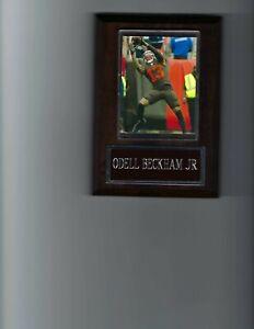 ODELL BECKHAM JR PLAQUE CLEVELAND BROWNS FOOTBALL NFL