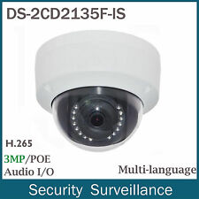 US Stock Hikvision DS-2CD2135F-IS 3MP PoE Mini Dome Outdoor Network IP Camera