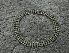 Diamante Crystal Rhinestone Necklace Choker Silver Wedding Party Chain Jewellery