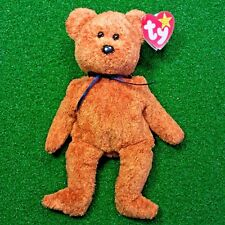 NEW Ty Beanie Baby FUZZ The Bear 1996 Retired Plush Teddy Bear MWMT - Ships FREE