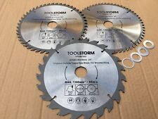 3PC 216MM Circular Saw Blade 24T/48T/60T BORE 30MM With 4 Bush 25.4,20,16mm,5/8""