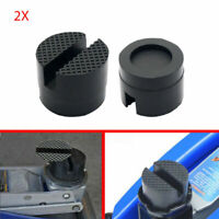 5cm Car Universal Slotted Frame Rail Floor Jack Guard Adapter Lift Rubber Pad 2x