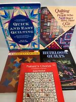 Quilting Books Lot of 5 Heirloom Quilts Nature's Chorus Americana Quilts & More