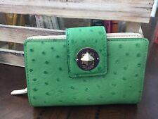 Kate Spade Green Ostrich Print Wallet