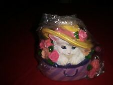 Westland Giftware ~ Hand Crank Music Box ~ Cat In Hat Box ~ Gift ~ New