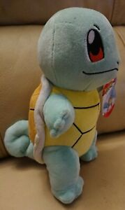 """Pokemon Squirtle  8"""" Supersoft Plush Character BMWT"""