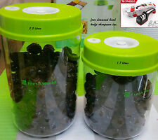 2 Vacuum Sealer Food Containers Kitchen Food Saver Canisters LA CUCINA Free shar