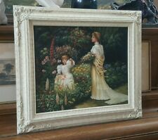 """Stunning Original Painting Oil on Canvas Carved Framed Immaculate 32""""x28"""""""
