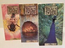 Lot of 3 Attenborough Trials of Life Animals BBC VHS Teach ++++
