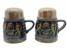 New Collectible Engraved Beer Stein: Bayern Salt and Pepper