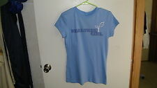 REALTREE OUTFITTERS LADIES LIGHT BLUE T-SHIRT, MEDIUM, 100% COTTON, NWT.