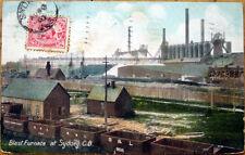 1907 Sydney Postcard: Blast Furnace- Sydney, Cape Breton, Nova Scotia/NS, Canada