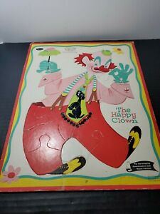 Vintage 1960 Whitman Frame Tray Puzzle # 4421 The Happy Clown Puzzle 11 x 14
